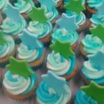 blauw groene cupcakes