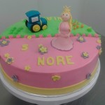 2 thema taart prinses tractor roze groen nore nias