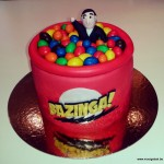 bazinga the big bang theory taart