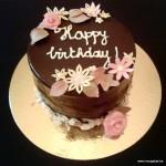 chocolade bloementaart happy birthday verjaardag