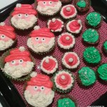 kerstman cupcakes frosting themacupcakes