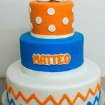 babyborreltaart matteo oranje blauw