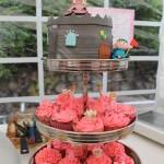 Ridder en prinses taart toren prinsessencupcakes