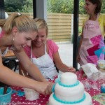 workshop bruidstaart blauw groepen competitie leuk origineel creatief