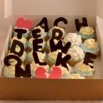 cupcakes toneel achter de wolken