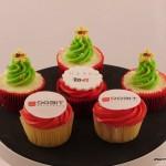 relatiegeschenk cupcakes logo kerst