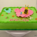 Maja de bij taart bloem vijver kikker