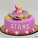 Roos elfje bloemetjes taart stans make a wish