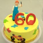 schilder taart 60 jaar fietsen kleuren