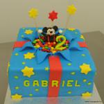 mickey mouse cadeautaart gabriel blauw verrassingstaart
