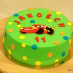 cars taart janosch groen bolletjes