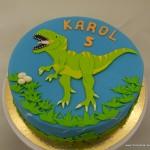 tyrannosaurus rex taart karol blauw groen