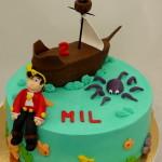 Piet piraat taart boot octopus