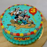 disney mickey mouse taart