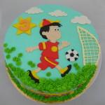 Voetballer taart rood