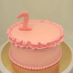 meisjestaart roze 1 jaar