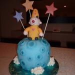 themataart bumba op de maan taart ruimte