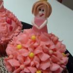 roze prinsessencupcake