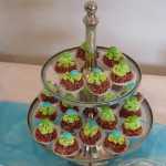 petit fours blauw groen desserttafel
