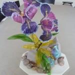 gelatine bloemen en vlinders taartdecoratie
