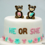 close up gendercake met beertjes